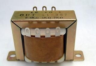 オリジナルアウトプットトランスの写真です。